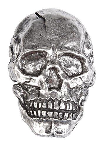 VERI Totenkopf Buckle Skull Gürtelschnalle Mensch Schädel Gürtelschließe Geschenk Idee Dark Szene Schmuck Schliesse 7,3 x 5 cm für 4 cm Gürtel Riemen one size cm : ) (Schnalle Szene)