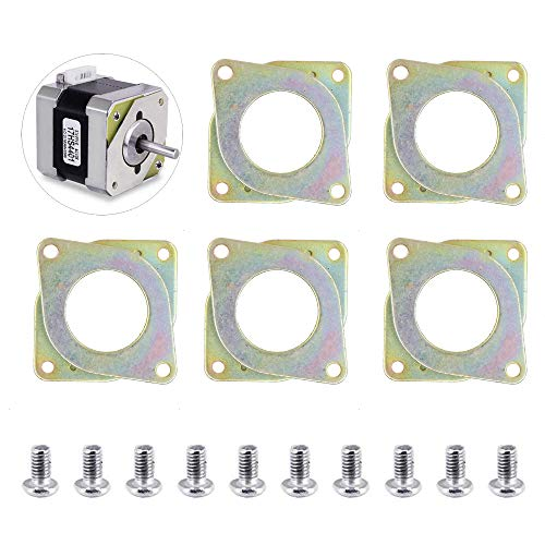 TopDirect 5 piezas NEMA 17 Amortiguador de Vibración del Motor de pasos de acero y del caucho y 10 piezas M3 5 mm Tornillos para Creality Ender 3, CR-10,10S, impresora 3D, CNC