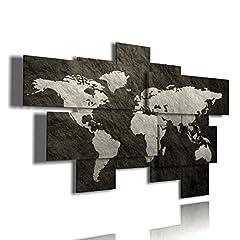 Idea Regalo - duudaart Quadro Mappa del Mondo Quadri Moderni Soggiorno XXL