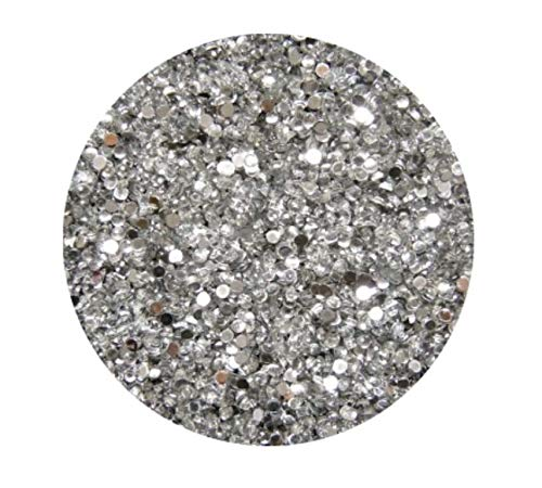 Strass Rond, Crystal, 2 mm, env. 125 pièces