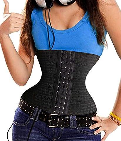 Bafully Frauen-Bauch-Abnehmen Shapewear Breath GUrtel Taille Training Cincher (X-Small, Schwarz)
