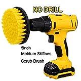 Oxoxo drill Brush - 5 Inch alimentazione per trapano Medium Duty scrubbing rigidità scrub spazzola di pulizia per piastrelle per pulizia delle superfici da bagno, docce