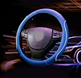 #6: NIKAVI Gloss car steering cover (BLUE)
