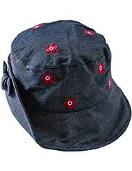 toyobuy bebé verano tela vaquera algodón Reversible Sol cubo sombrero gorra azul