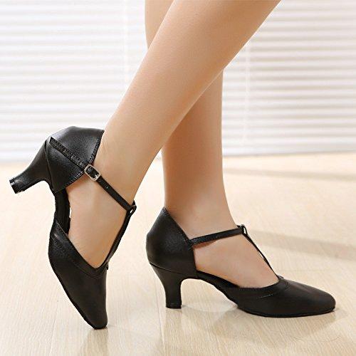 Xpy & Dgx Ballet Chaussures Orteil Avec Des Sandales Femme En Cuir Souple Noir Mince Avec Évidement Ding Chaussures Chaussures, 5 240 Mm