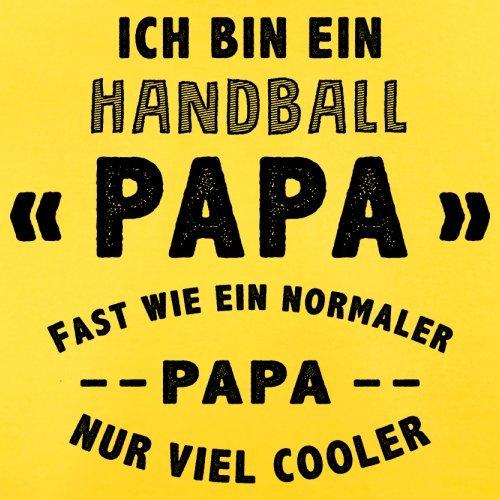 Ich bin ein Handball Papa - Herren T-Shirt - 13 Farben Gelb