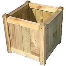Papillon 8044815 - Jardinera de madera, 40 x 40 cm