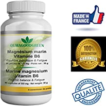 Magnesio marino-Vitamina B6-90 Cápsulas-Vitalidad-Efecto relajante -OFERTA Factura