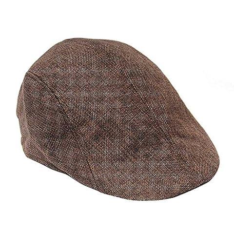 TININNA Unisex Flatcap Schiebermütze Schildmütze Gatsbycap Golfermütze Schirmmütze für Damen Herren (Schildmützen Herren)
