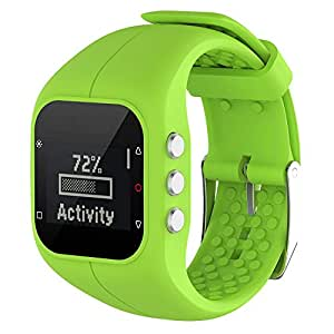 KOBWA Polar A300 Smart Watch, Cinturino di Ricambio in Silicone Watch Band Sport Cinghia per Polar A300 Fitness Watch, Lime