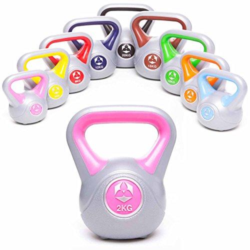 #DoYourFitness Kettlebell »PowerMonster« Kugelhantel 2kg bis 20 kg/Handgewicht aus Kunststoff/Studio-Qualität ideal für Krafttraining, Functional-Training, Gymnastik und Heimtraining / 2kg pink