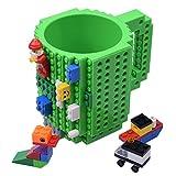 KYONNE Build on Brick Tasse, Becher zur Junge oder Männer, Weihnachten Geschenk Idee (Grün)