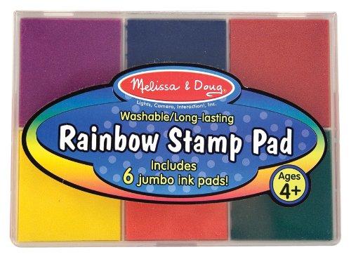 Imagen principal de Melissa & Doug - Almohadilla para estampar de arco iris (11637)