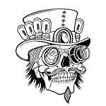Cupcinu Wall Stickers Halloween Skull Skeleton Stickers Art Murals Removable Wall Murals Decals Stickers for Bedroom Living Room Home Decor