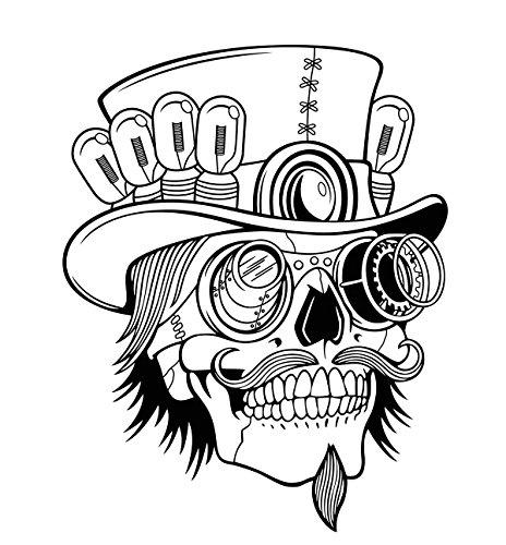 Dosige 1 Adhesivo de pared del cráneo Skull punk rock creativo...