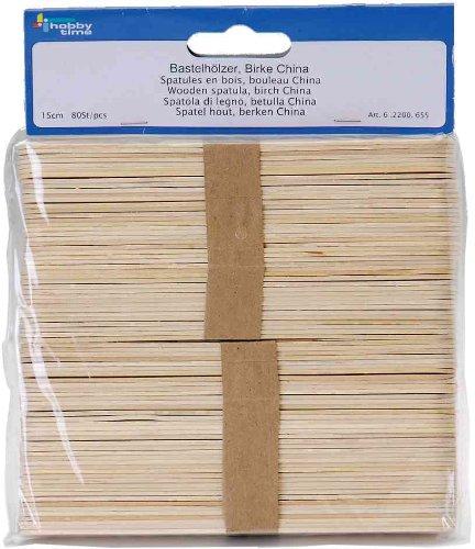Glorex GmbH GLOREX Bastelhölzer 11cm 100St, Holz, Natur, 26 x 11.5 x 1 cm