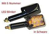 Motorrad Mini Blinker LED Steve schwarz getönt E-geprüft für ATV BMW F R Honda CB CBR Kawasaki ER GPZ Z ZX Ninja Suzuki DR GS GSR GSX RGV SV Yamaha DT FZ1 6 RN TDR XT XJ YZF