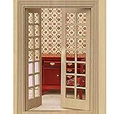 WINOMO 01:12 Puppenhaus Möbel Miniatur hölzernen Außentür 28 Panel