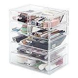 Acryl Makeup Box, EZOWare Acryl Makeup und Kosmetik Aufbewahrung / Organiser mit 5 Ebenen 7 Schubladen - Kristall