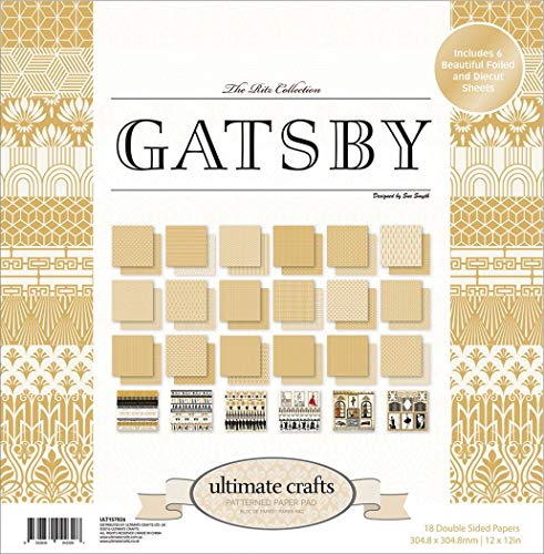 Ultimate Crafts Gatsby 30,5 x 30,5 cm Papier Pad, Mehrfarbig