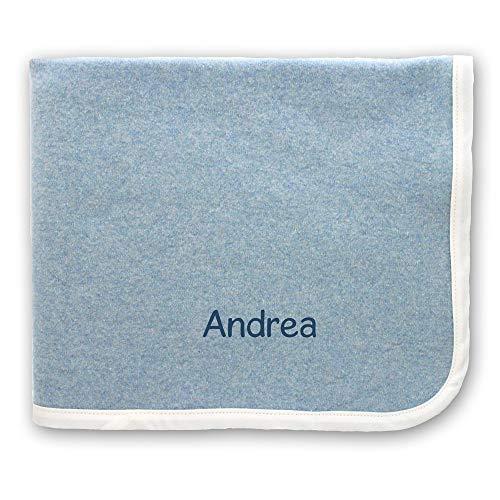 Coccole - set asilo nanna con nome personalizzato (coperte, azzurro)