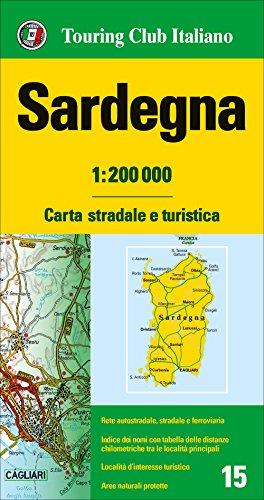 Cerdeña 1:200.000 mapa de carreteras impermeable Touring Club Italiano. (Carte regionali 1:200.000) por VV.AA.