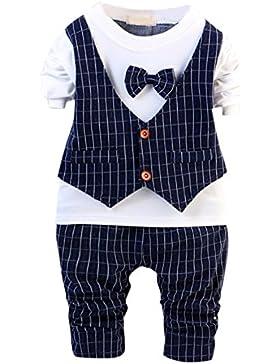 de feuilles Kinder Bekeleideung Set Baby Geschenk Baumwolle 2stk Gentleman Neugeborenes Langarm Anzug Baby Pants...