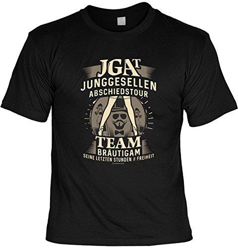 Junggesellenabschied witziges T-Shirt für Junggesellenfeier Ehe JGA Shirts JGA Outfit JGA Polterabend Hochzeit Junggesellen Abschiedstour (S, JGA)