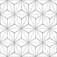 WallPops FP2481 Kikko Peel & Stick Floor Tiles, Whites & Off-Whites, Set of 10 Pieces