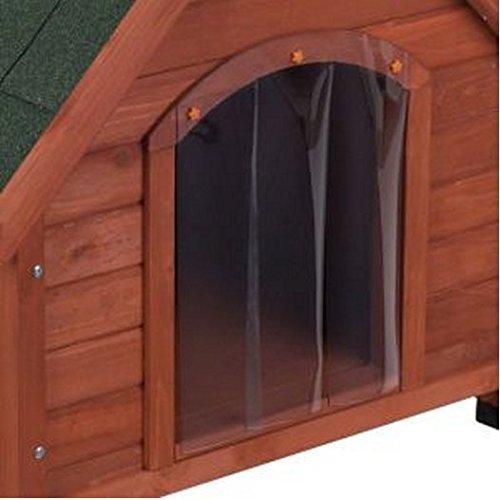 Doppelwandige Hundehütte aus Holz, Schutz vor Hitze und Kälte über das ganze Jahr, ideal für Hunde, die im Freien leben - 3
