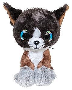 LUMO STARS Cat Forest Animales de Juguete Felpa Negro, Marrón, Blanco - Juguetes de Peluche (Animales de Juguete, Negro, Marrón, Blanco, Felpa, 3 año(s), Cat (Animal), Niño/niña)
