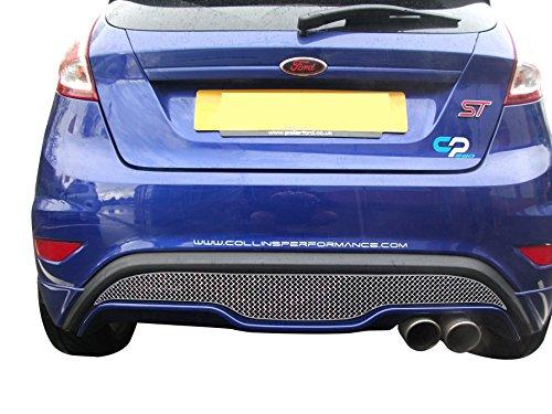 Zunsport Compatible avec Ford Fiesta St MK 7.5 - Calandre arrière - Finition Argent (2013 à 2017)