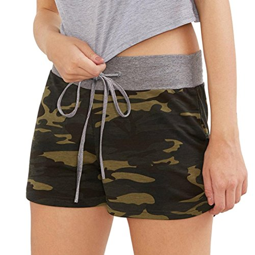 Mounter Summer Shorts For Women, Casual Drawstring Elastic Hot Pant For Beach Workout Yoga