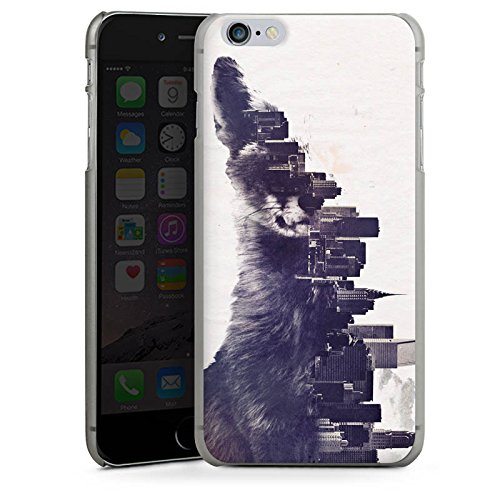 Apple iPhone X Silikon Hülle Case Schutzhülle Fuchs Urban City Hard Case anthrazit-klar