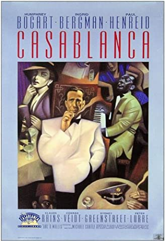 Casablanca Affiche du film Poster Movie Casablanca (11 x 17 In - 28cm x 44cm) Style J