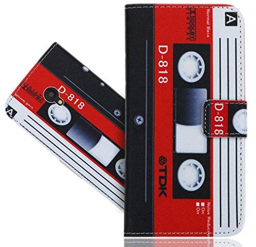 FoneExpert® ALCATEL U5 (4G) Handy Tasche, Wallet Case Vintage Cover Hüllen Etui Hülle Ledertasche Lederhülle Schutzhülle Für ALCATEL U5 (4G) 5044D