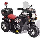 Aqura VidaXL Motocross électrique 82L x 37W x 53H cm Moto électrique Enfant Noir avec Trois Roues...
