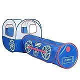 Sikungjlk Tienda de Princesas Túnel de la Carpa para niños Magic Baby Toy Room Drill Folding Portable Hole Tube Tubo de Escalada, Tren Azul Túnel de rastreo