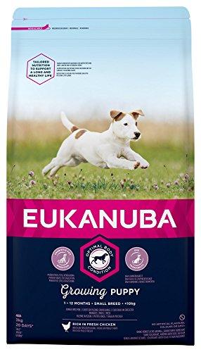 Eukanuba Puppy Cibo Secco per Cuccioli di Taglia Small Fino a 12 Mesi di Vita, Brown, 3 kg