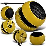 (Jaune) Vodafone Smart 4 Mini Mini Capsule Voyage rechargeable fort 3.5mm Bass Speaker Jack Pour Jack entrée par Fone-Case