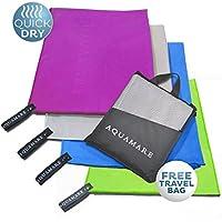 Microfibra toalla de secado rápido (130 x 80 cm) – Súper absorbente toalla de viaje ligero perfecto para yoga, Deportes, Gimnasio, Pilates, Camping, ...