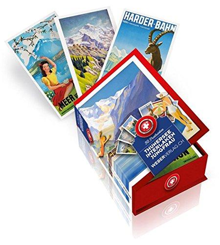 Thunersee bis Jungfrau Postkartenbox -