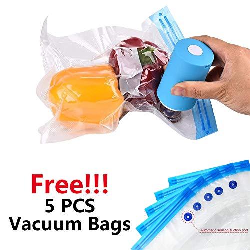 Mini sellador al vacío con kit de 5 bolsas de vacío, bomba...