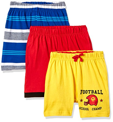 Cloth Theory Boys' Shorts (Pack of 3)(ICWN BSHRT 010_Multicolour_9 - 10 years)