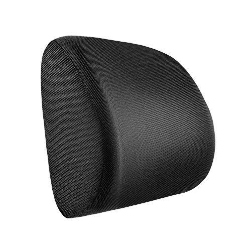 Newdora Rückenkissen Ergonomische lendenwirbelstütze, Lordosenstütze Memory Foam, Rückenstütze-Kissen Für Bürostuhl Auto, Linderung Rückenschmerzen, Schwarz