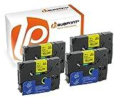 Bubprint 4 Schriftbänder kompatibel für Brother TZE-631 TZE 631 für P-Touch 1280 2430PC 2730VP 3600 9500PC 9700PC D400VP D600VP H100LB H105 P700 P750W