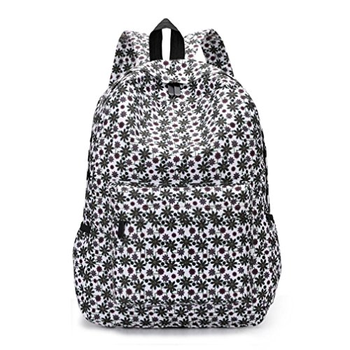 VJGOAL Damen Rucksack, Damen Männer Frischen Stil Rucksäcke Blumendruck Bookbags Weibliche Reise Schultaschen Studenten Rucksack (B) (Rucksack Bookbag)