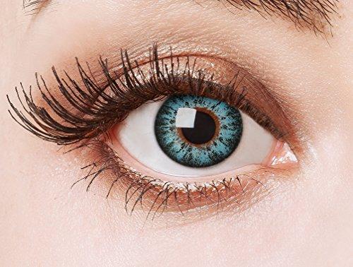 aricona Farblinsen Manga & Anime Kontaktlinse Brilliant in blau -Deckende,farbige Jahreslinsen für dunkle und helle Augenfarben ohne Stärke,Farblinsen für Cosplay,Karneval,Fasching,Halloween Kostüme