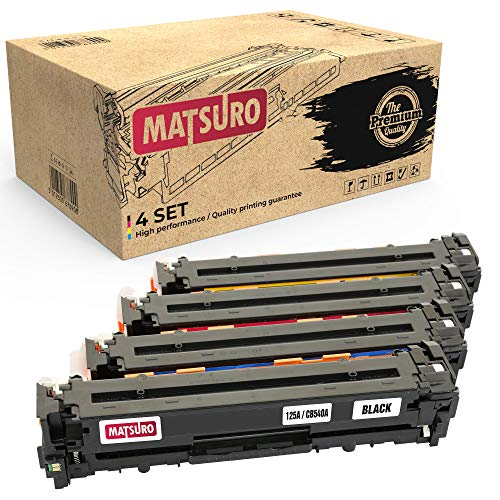 Matsuro Original | Kompatibel Tonerkartusche Ersatz für HP 125A CB540A CB541A CB542A CB543A (1 Set) -