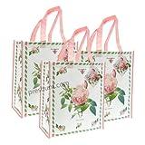 Redoute Rose Design Shopping Bag x 3